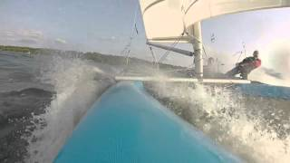 Prindle 16 Catamaran getting some decent speed in Cap-Rouge, Quebec