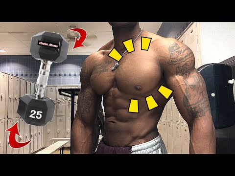 20 MINUTE CHEST WORKOUT (using ONLY ONE DUMBBELL)   FOLLOW ALONG!