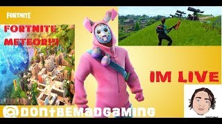 Fortnite Leak meteor Hit Tilted towers *New skins* Vbuck Giveaway Its Lit