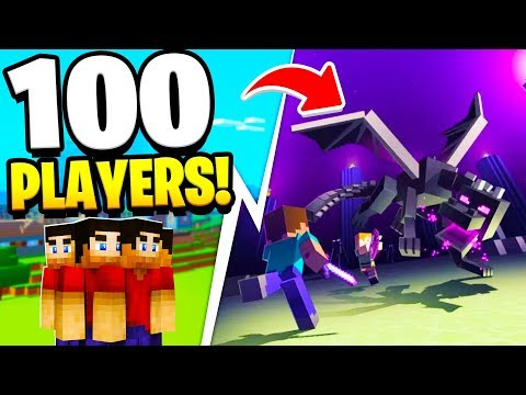 100 PLAYERS RACE TO BEAT MINECRAFT!