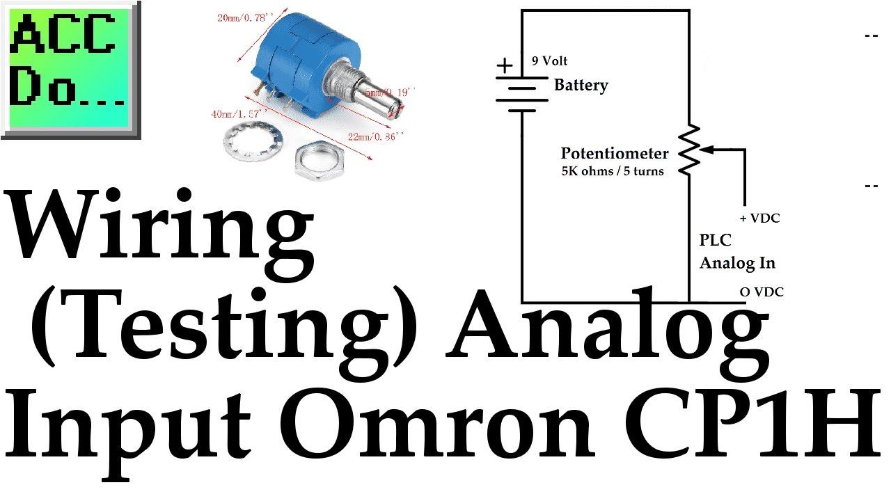 Wiring Testing Analog PLC Input Omron CP1H YouTube