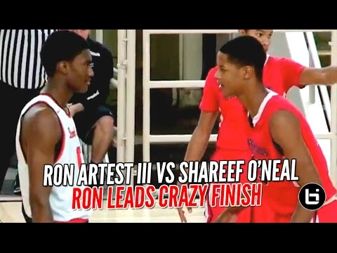 80caa8262591 Ron Artest III vs Shareef O Neal Part 2 Gets Upstaged By Game Winning 3  Pointer!! FULL Highlights