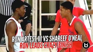 Ron Artest III vs Shareef O'Neal Part 2 Gets ...