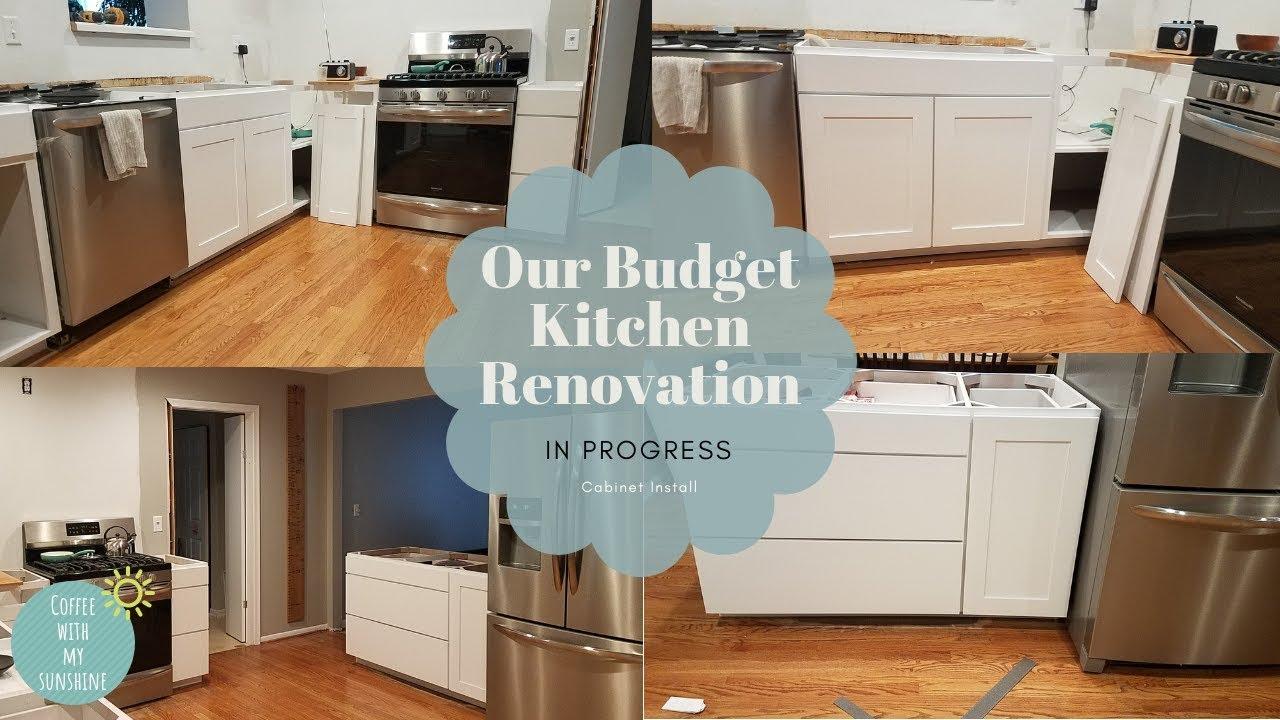 BUDGET KITCHEN RENOVATION | Kitchen Makeover in progress | Remodel ...