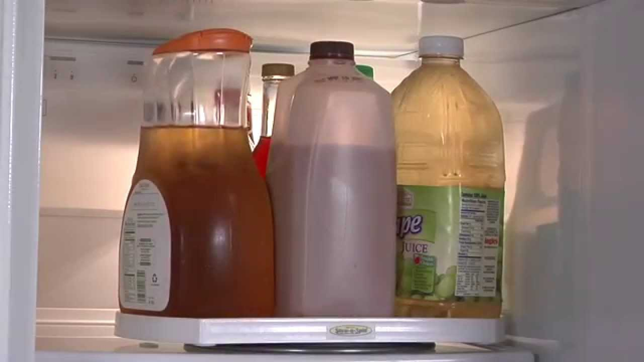 Fantastic One Tier Lazy Susan Spinning Inside the Refrigerator - YouTube VE53