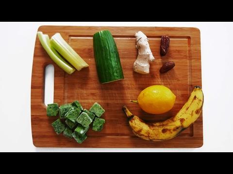 green-smoothie-|-detox-|-ingwer-und-zitrone-|-fitness-rezepte-zum-abnehmen