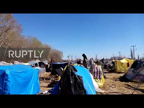 Turkey: Makeshift migrant camp continues to grow at Pazarkule border crossing