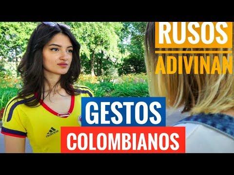 RUSOS adivinan GESTOS COLOMBIANOS 💛💙❤️