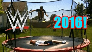 Top 50 WWE Finishers of 2016 on Trampoline(Our Top 50 Personal Favorite WWE Finishers of people who wrestled on the MAIN ROSTER in 2016! A lot of great moves were added this year after all of the ..., 2016-08-28T18:00:01.000Z)