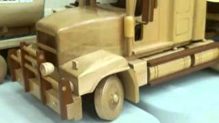 00025 Scaled Wooden Truck Models.flv