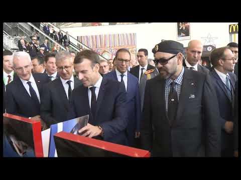 LGV: arrivée d'Al Boraq à Rabat avec, à bord, Mohammed VI et Macron