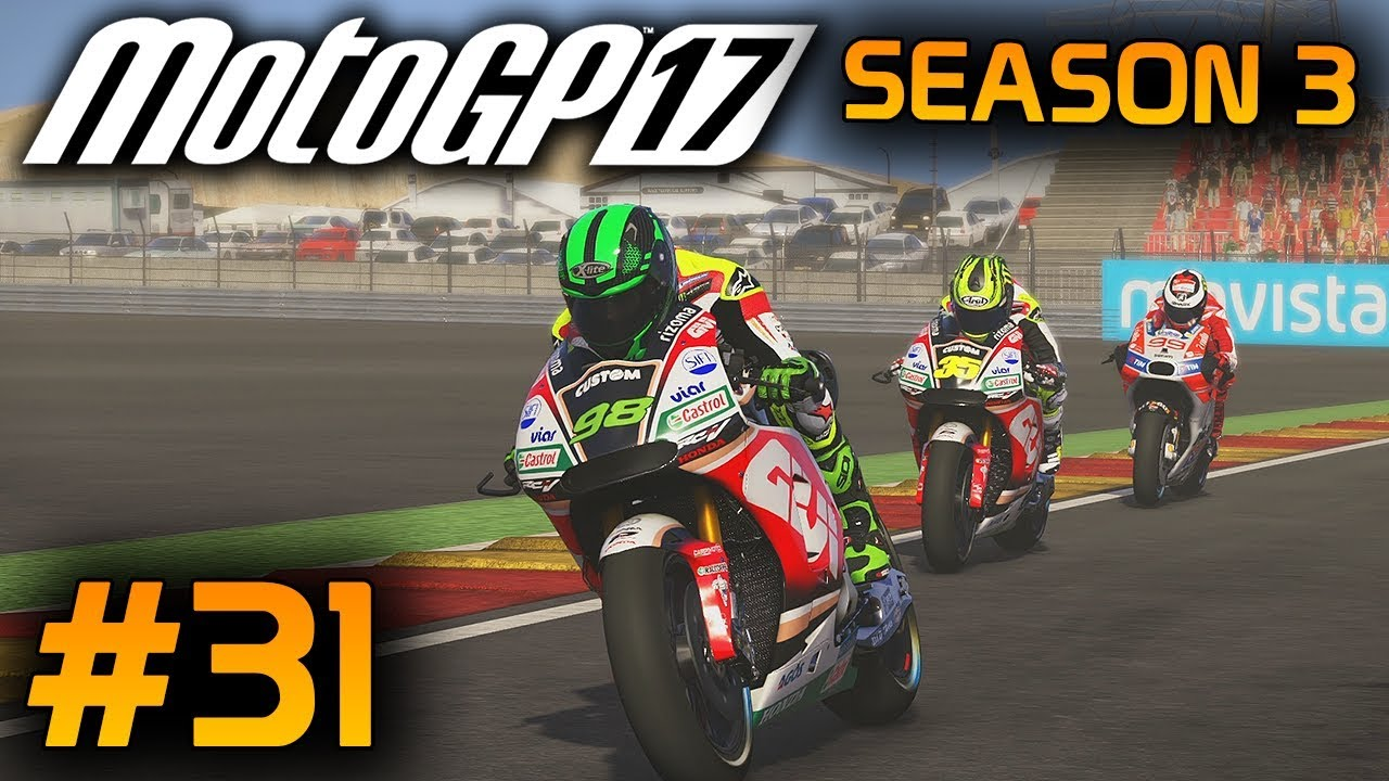 motogp 17 career mode part 31 aragon 2017 rider game ps4 gameplay