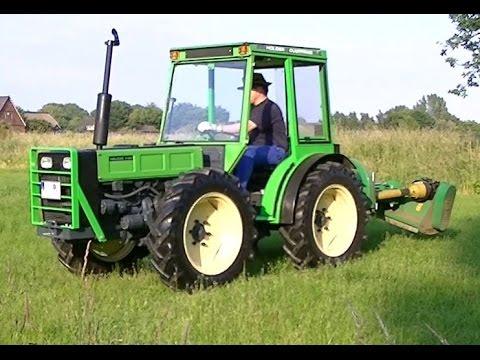 2 - Holder A60 - Allrad Knicklenker Traktor im Einsatz mit GEO AGL145 Mulcher - YouTube