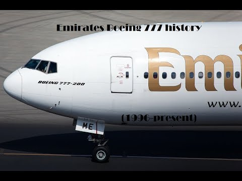 Fleet History - Emirates Boeing 777 (1996-present)