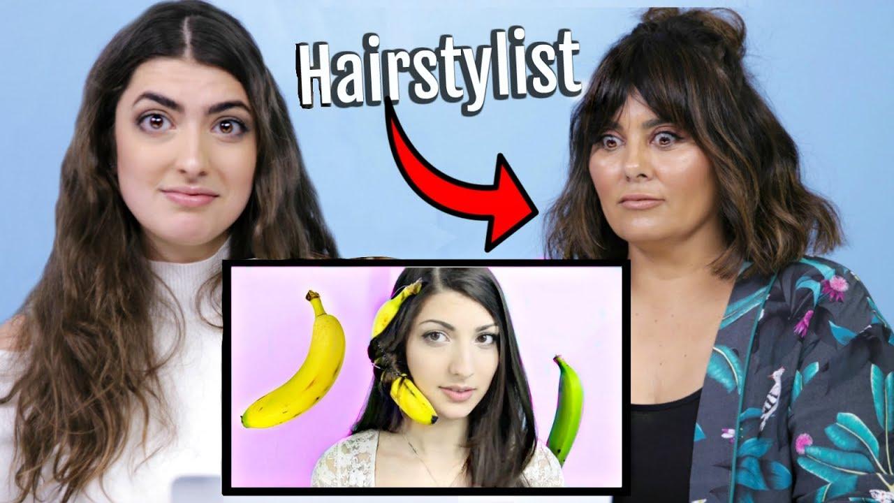 PROFESSIONAL HAIRSTYLIST Watches My Weird Hair Life Hack Videos