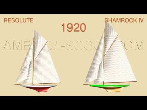 AMERICA'S CUP 1920 - RESOLUTE / SHAMROCK IV