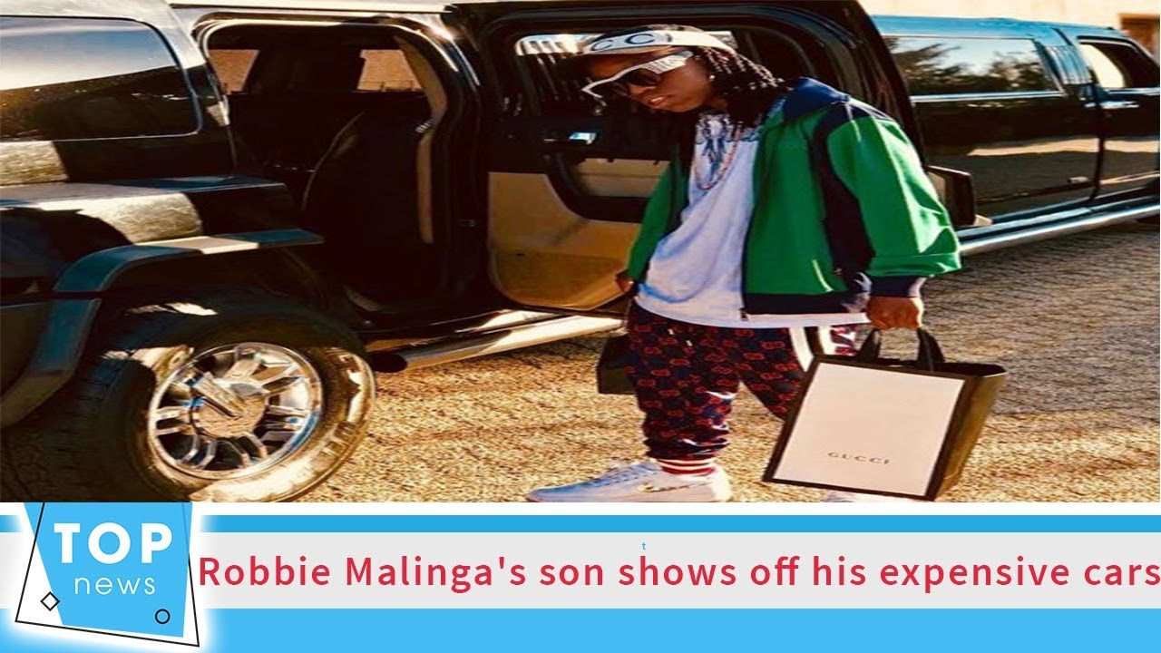 Son of late Robbie Malinga takes over dad's Instagram, shows off Porsche