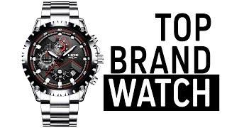 LIGE Men Fashion Sport Quartz  Watch - Top Brand Luxury Full Steel Business Waterproof Watch