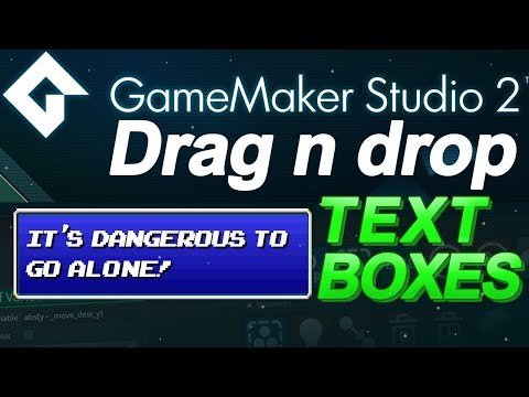 GameMaker Studio: Text Boxes Tutorial - (DnD) Drag and Drop