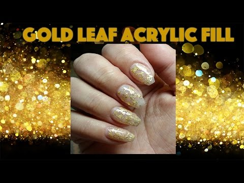 Acrylic Nail Fill  Young Nails Acrylic & Gold Leaf