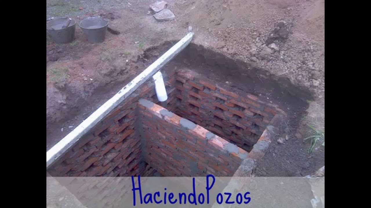 Construccion de pozos ciegos camaras septicas conexiones for Como hacer una pileta de ladrillos