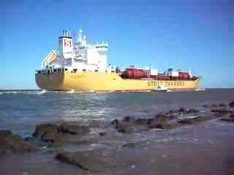 A big Stolt tanker ship takes off for the Gulf of Mexico