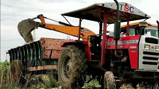 MASSEY FERGUSON 7250 DI Power tractor with full loaded trolley | #jcbvideos |#Tractorvideos | CFV