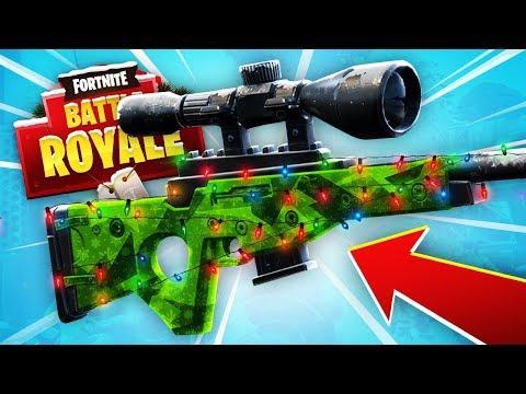 CHRISTMAS SNIPER HUNTING!  (Fortnite Battle Royale)