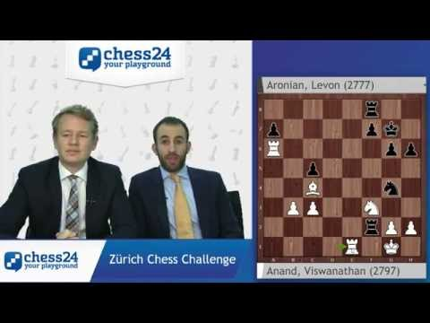 Game of the Day: Anand - Aronian, Zürich Chess Challenge, Round 2