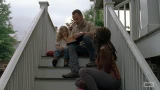 Rick, Michonne and Judith - The Walking Dead Season 9 Episode 3