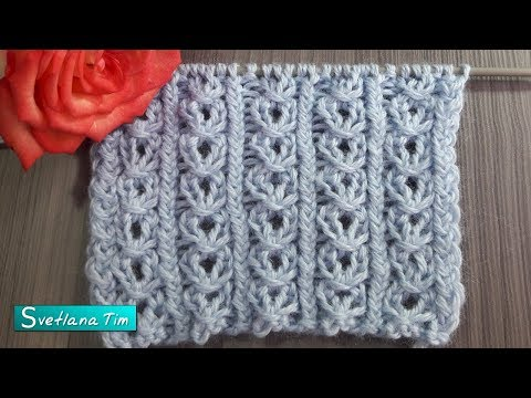 Цепочки вязание спицами