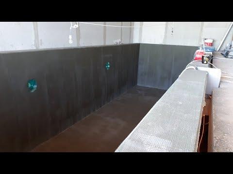 КАК ПОСТРОИТЬ БАССЕЙН. Гидроизоляция бетонной чаши - СТРОИМ БАССЕЙН +7 (926) 224-71-44