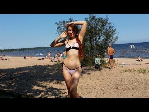 Отдых на Ладожском озере. Пляж  Коккорево Ладожское озеро. Ленинградская обл. Ночью у костра до утра