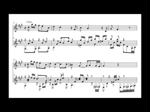Bahia Blanca (Tango) - Carlos Di Sarli - Guitarra y flauta - Partitura