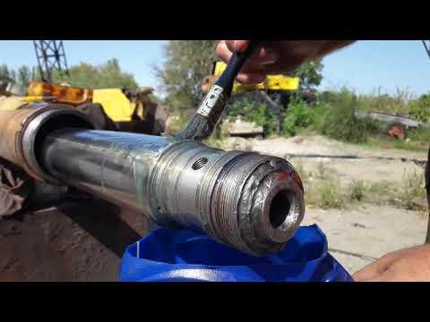 Сборка цилиндра телескопирования,замена уплотнений
