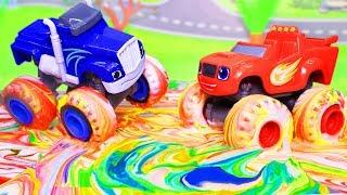 Вспыш и чудо машинки: Бои в красках! Мультики с игрушками. Машинки Вспыш. Видео для детей