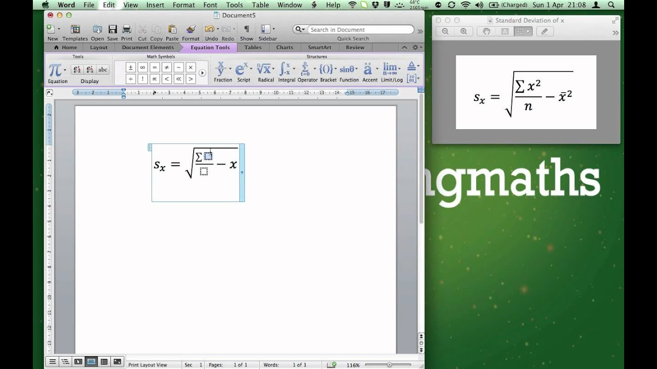 Learn How To Type An Equation In Microsoft Word Youtube