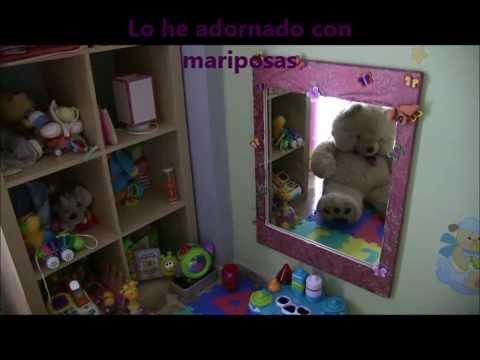 Restaurar espejo habitacion infantil youtube - Como decorar un espejo ...