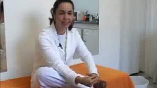 Mão reflexologia pernas nas para da dor