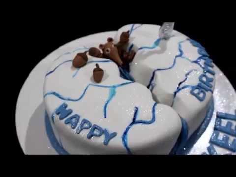Ice Age Birthday Cake Youtube