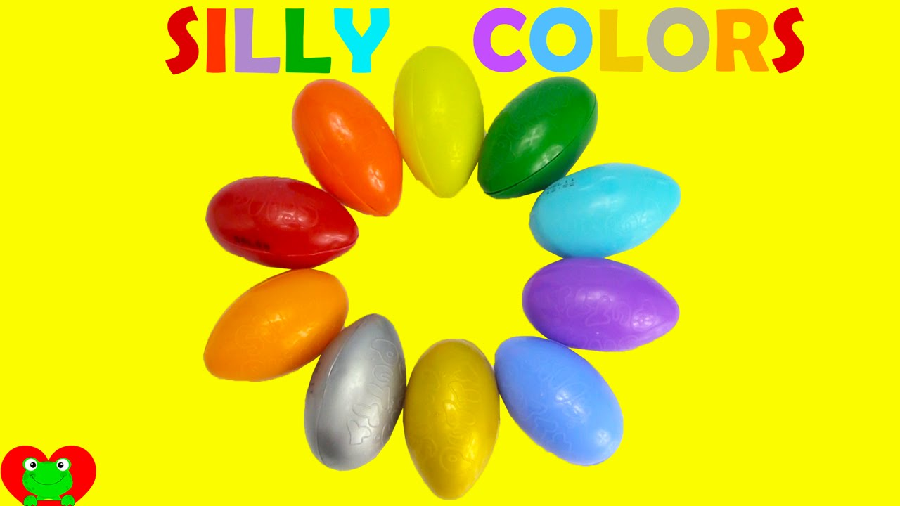 Removing Silly Putty Coloring Page | Learn Colors With Silly Putty Youtube