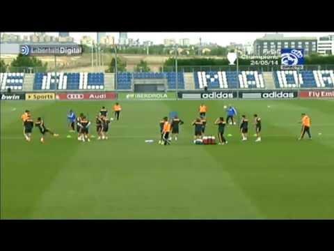 Pepe, Bale y Benzema no entrenan y Cristiano lo hace en solitario