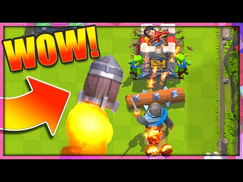 EPIC ROCKET BARREL DECK - Clash Royale Top 200 Push