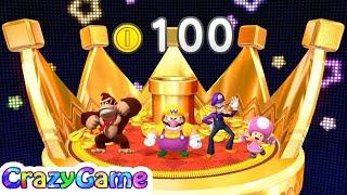 Mario Party 10 Coin Challenge - Wario vs Waluigi vs Donkey Kong vs Toadette Gameplay (2 Player)