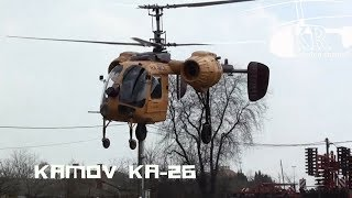Kamov Ka-26 helicopter flight at Agárd