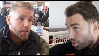 EDDIE HEARN & BILLY JOE SAUNDERS HAVE IT OUT! - ON JOSHUA-FURY, £50K BET,  JACOBS, CANELO-GGG, KHAN