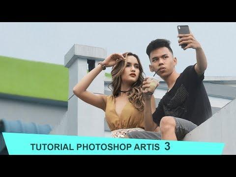 Edit bareng artis CINTA LAURA ( tutorial 3 )