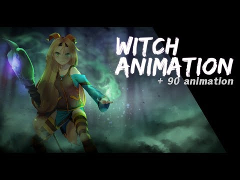 Witch Animation Set for Unity
