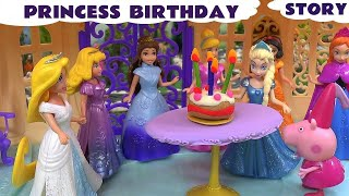 Play Doh Birthday Surprise Peppa Pig Frozen Elsa Anna Cinderella Story Disney Princesses Thomas