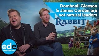 peter rabbit domhnall gleeson james corden are not natural leaders